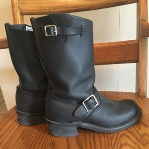 FRYE 8R leather Engineer Boots 6.5